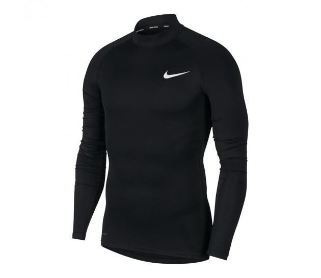Nike PRO Top Tight LS Mock (с воротником) - КОМПРЕССИОННАЯ КОФТА