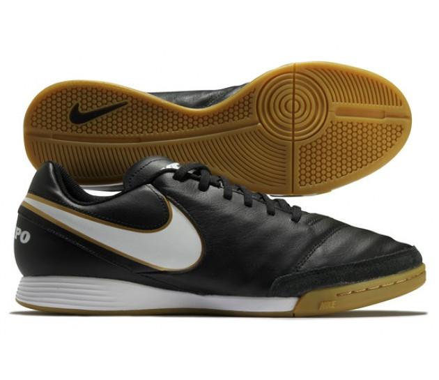 Nike Tiempo Genio II IC Black - МУЖСКИЕ ФУТБОЛЬНЫЕ КРОССОВКИ